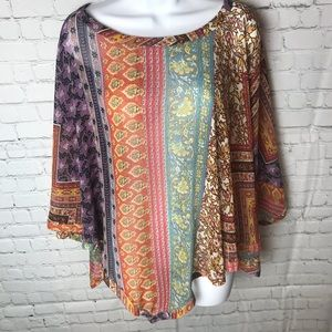 Coldwater Creek multicolored Sheer Poncho